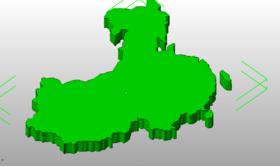 立体中国地图